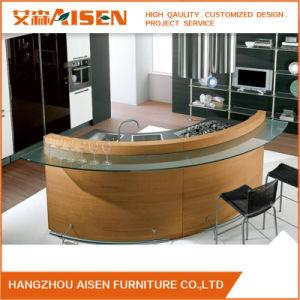 Commercial Round Island Modular Kitchen Furniture Wood Veneer Kitchen Cabinet pictures & photos