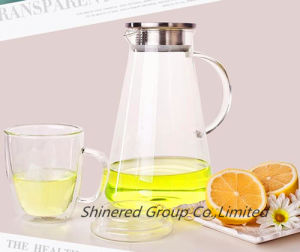2L Eco-Friendly Borosilicate Glass Pitcer Water Kettle Cold Drinking Water Pot pictures & photos