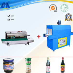 Plastic Film Sealing and Shrinking Machine for Bottles pictures & photos