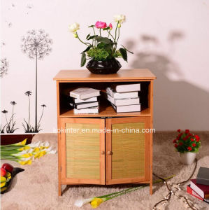 Hot Selling Bamboo Storage Cabinet with Two Doors pictures & photos