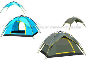 3 - 4 Persons Waterproof Double-Skin Automatic Camping Tent (JX-CT023-4) pictures & photos