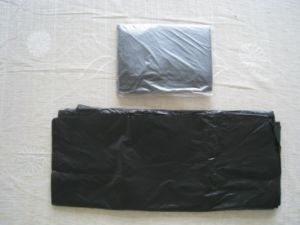 HDPE Black Loose Packed Plastic Flat Bag pictures & photos
