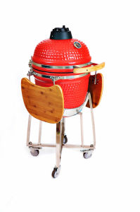 High Glossy 18′′ Rotisserie BBQ Kamado Charcoal Grill