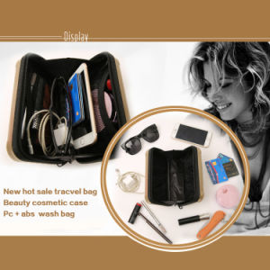 New Hot Sale Cosmetic Bag Travelling PC + ABS Tracvel Beauty Cosmetic Case Wash Bag pictures & photos