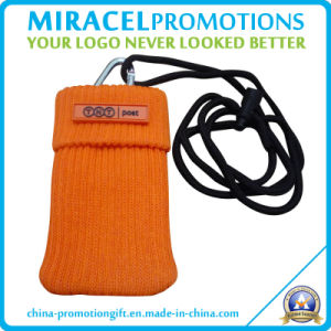 Lanyard Cell Phone Pouch with PVC Patch (MF-605)
