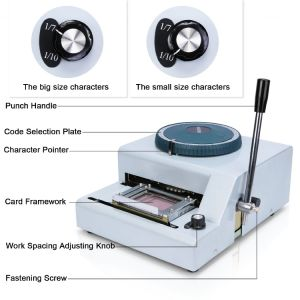 70 Charactors PVC Card Manual Embossing Machine for Credit VIP ID Membership Gift Card