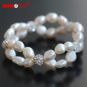 Cheap Pretty Double Baroque Pearl Bracelets for Women (E150055) pictures & photos