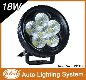 6PCS*3W LED Chips Top Sell Auto LED Work Light (PD318)