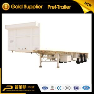 3 Axles Single Tire Type Flatbed Semi-Trailer with Portal Frame