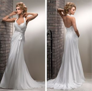 Halter Neck Beading Wedding and Evening Dress (lxy8019)