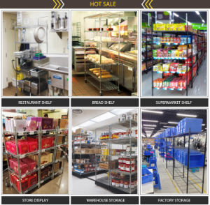 Adjustable Slanted Fair Booth Display Wire Shelving pictures & photos