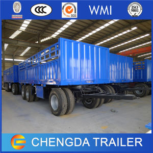 2 Axlebox Trailer Full Cargo Semi Trailer for Sale pictures & photos