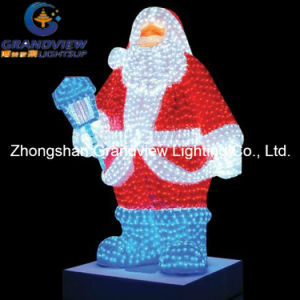 Outdoor Christmas LED Xmas Santa Claus Lights with CE RoHS pictures & photos