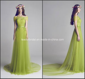 Green Fashion Evening Prom Dress A-Line New Bridesmaid Dresses Z4023 pictures & photos