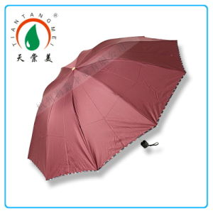 China Wholesale Advertising Big 3 Folding Umbrella
