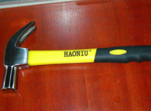 Hand Tools of 25mm British Type Claw Hammer with TPR Handle