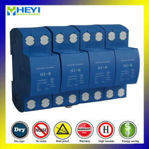 Ui-B 385V 50ka 4pole Surge Absorber Surge Suppressor Lightning Surge Protector pictures & photos