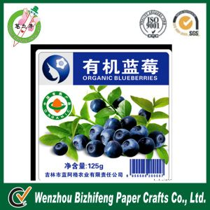 Blueberry Food Packing Box Food Label