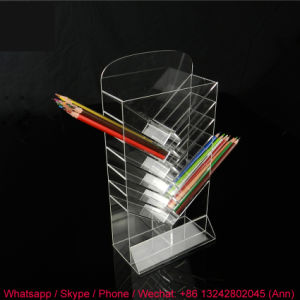 Unique Design Clear Lucite Acrylic Display Pen Holder pictures & photos
