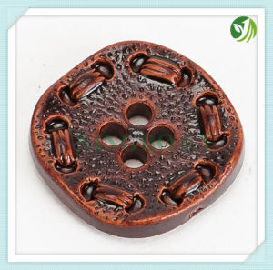Fancy Imitation Leather Button for Coat pictures & photos