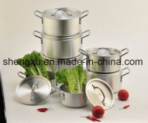 Non-Stick Ceramic Coated Aluminum Sauce Pot Energy-Saving Pot Cookware Sets Sx-A005 pictures & photos