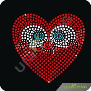 Love Heart Eyes Heat Transfer Rhinestone