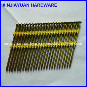 21 Degree Flat Head Plastic Coated Strip Nail with 25PCS /Strip pictures & photos