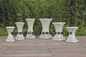 Wicker Outdoor Furniture Garden Flower Pot (BP-F08, BP-F09) pictures & photos