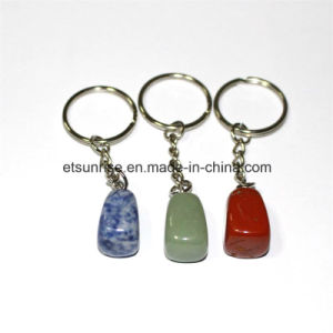 Fashion Natural Gemstone Crystal Keyring Pendant pictures & photos