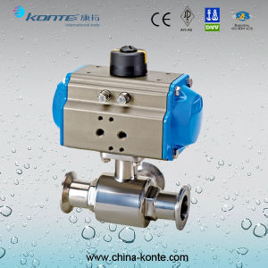 Pneumatic 3 Way Sanitary Ball Valve Ss304 Ss316L pictures & photos