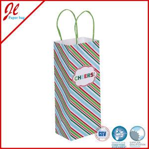 Winter Wonderland Wine Bottle Paper Gift Bag Daliy Paper Gift Wine Bottle Bag pictures & photos