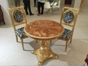 European Style Table and Chair/Luxury Middle East Style Restaurant Furniture/Hotel Furniture/Dining Room Furniture (GLPLD-037) pictures & photos