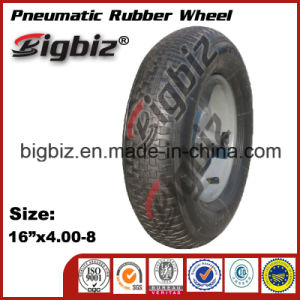 """Shandong 16"""" Black Solid Rubber Wheelbarrow Tire Manufacturing pictures & photos"""