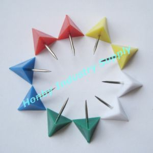 22mm Colored Plastic Triangle Thumb Tack (Y41027C) pictures & photos