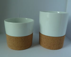 Porcelain Cup with Cork Bottom pictures & photos