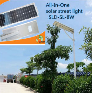 Top Quality Integrated Solar Street Light/ Solar Garden Light with All in One Design