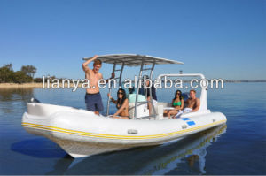 Liya 6.6m 22 Feet Hypalon Boat Rigid Hull Inflatable Boat pictures & photos