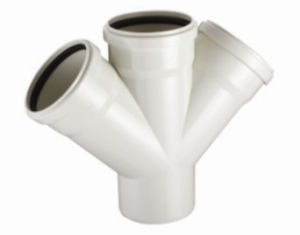 PVC-U Pipe &Fittings for Water Drainage Cross with Socket (C75) pictures & photos