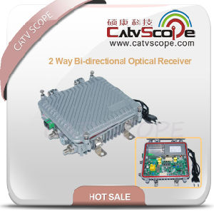 Outdoor 2 Way Output Bi-Directional Optical Receiver with AGC pictures & photos