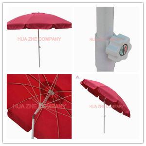 Hz-Um111 Hot Sale 9ft Fiber Glass Parasol with Crank-Garden Parasol Patio Umbrella Outdoor Umbrella Garden Umbrella pictures & photos