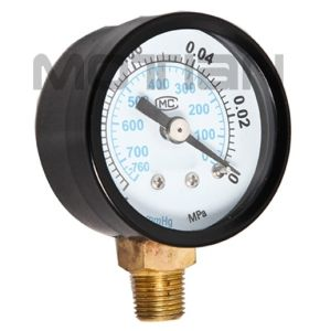 1.5 Inch Steel Plastic Iron Cover Pressure Gauge with Safety Requirement