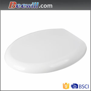 Quick Release Slow Close Sanitary White Round Urea Toilet Cover pictures & photos