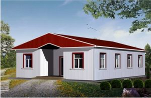 A Shape Roof Prefabricated Modular House for Site Office pictures & photos