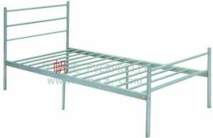 School Furniture Dormitory Steel Frame Single Bed pictures & photos