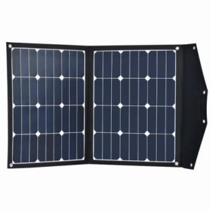 80W 18V Portable Power Bank Solar Charger for Camping pictures & photos