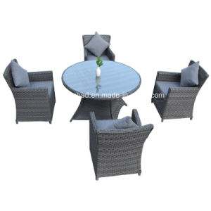 Round Table & Chairs for Outdoor with Rattan / SGS (5002-1) pictures & photos