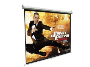 "70""X70"" Manual Projector Screen with Matte White, Built-in Auto-Lock System pictures & photos"
