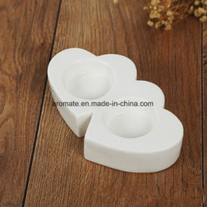 Valentine′s Day Decoration White Ceramic Tealight Holder (CC-09) pictures & photos