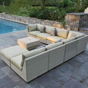 L Shape Rattan Sofa Outdoor Leisure Sofa Garden Furniture Rattan / Wicker Sofa S231 pictures & photos