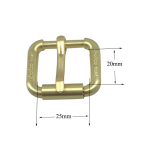 Custom Size Gold Plated Metal Belt Buckle Roller Buckle Pin Buckle (25*20mm) pictures & photos